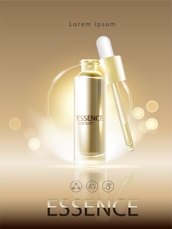 Realistic  liquid beauty container in elegant style illustration. Illustration