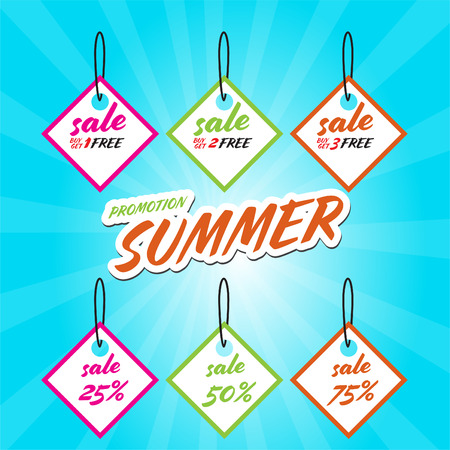 End Of Summer Sale banner design template Archivio Fotografico - 109626406