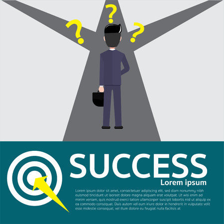 businessmen of columns column Business ideas about goals, accomplishments, achievements, and challenges. Vector Illustration