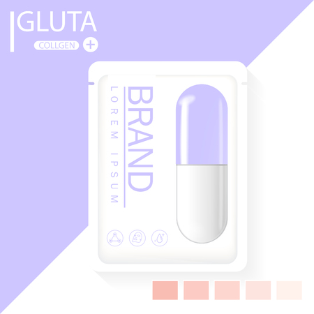glutathione pack with capsule and the third ingredient can be separated.