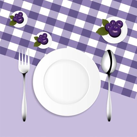 Empty food plate, spoon, repair, put on fabric, can be separated