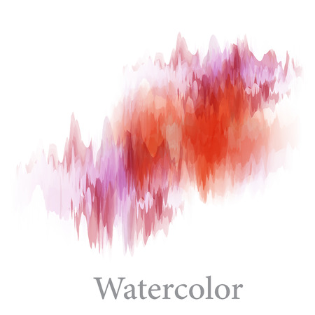 Abstract watercolor hand paint texture, isolated on white background, vector