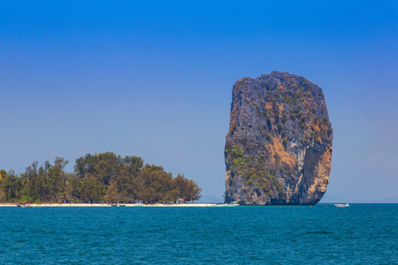 Poda Island when viewed from boat