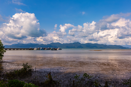 The pier for traveling to the islands in Trat province