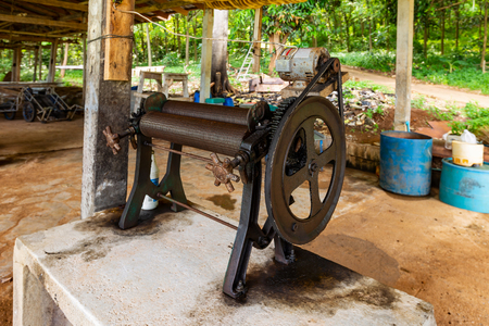 Small rubber industry on Koh Mak  Is one of the peoples occupations on this island