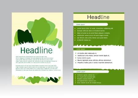 a5: Brochure Flyer design vector template vegetables