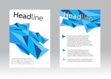 geometric design background for Flyer brochure in A4 size