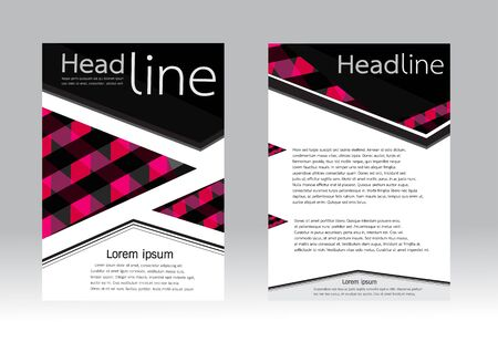 a5: geometric design background for Flyer brochure in A4 size