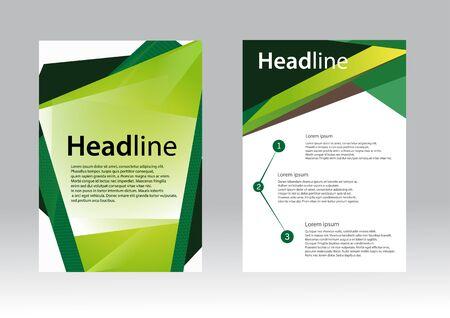 a5: Brochure Flyer design vector template Green Illustration