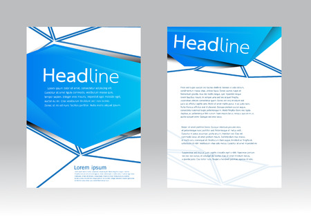 Vector brochure template in A4 size