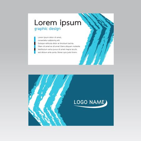 business card vector illustration
