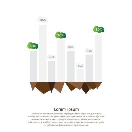 Vector infographic. Template for eco diagram graph chart .