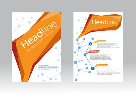 a5: Abstract design vector template for brochure flyer