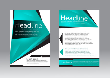 a5: Vector brochure template in A4 size