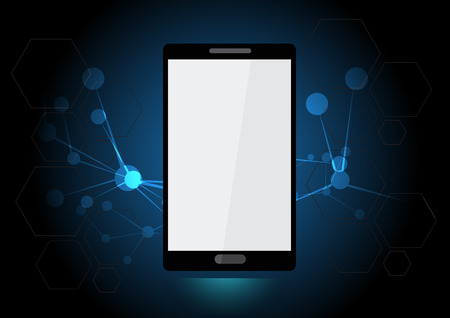 vector smartphone technology background 일러스트