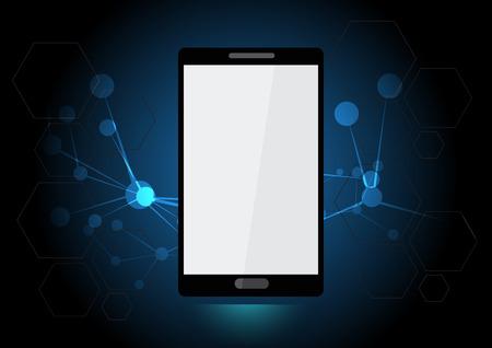 technology background: vector smartphone technology background Illustration
