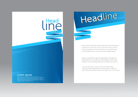 wave design: Abstract design vector template for brochure flyer