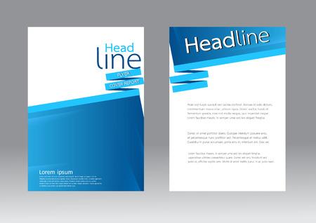 Abstract ontwerp vector sjabloon voor brochure flyer Stock Illustratie