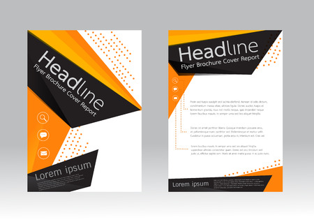 a4: Abstract design vector template for brochure flyer in A4 size
