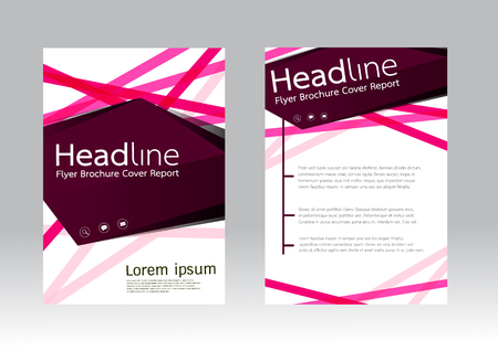 Abstract design vector template for brochure flyer in A4 size Vector