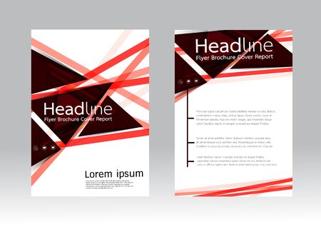 catalog templates: Abstract design vector template for brochure flyer in A4 size