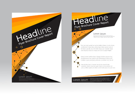 magazine design: Abstract design vector template for brochure flyer in A4 size
