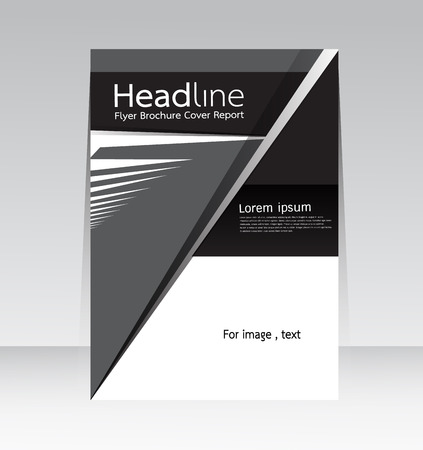 magazine page: Cover Report abstract design background in A4 size