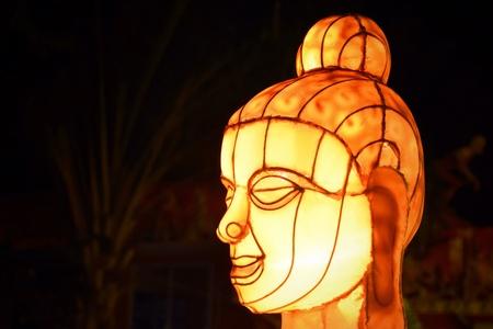 buddha image: Buddha image lamp Stock Photo