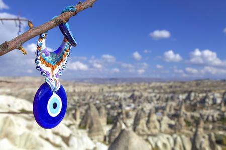 volcanic: Volcanic tufa formations in Turkeys Cappadocia. Stock Photo