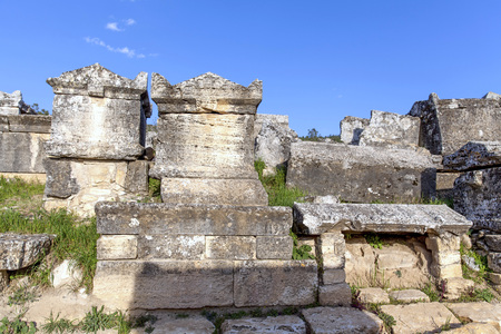 hierapolis: The ruins of the ancient city of Hierapolis in Turkey.