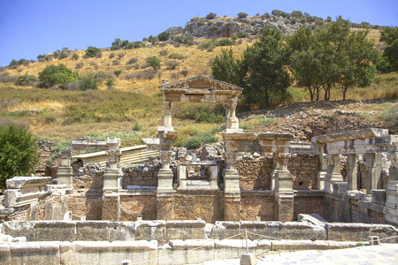 colum: The ruins of the ancient city of Ephesus in Turkey.