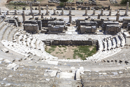 colum: an image from the Odeon in the ancient city of Ephesus in Turkey.