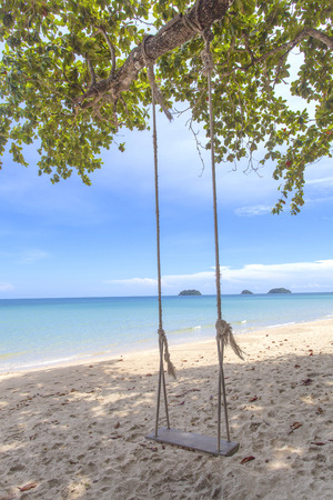 chang: A view from Koh Chang island in Thailand. Stock Photo