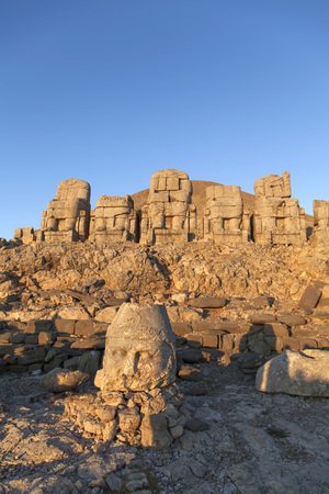 southeastern: Nemrut ruins in the south-eastern region of Turkey.