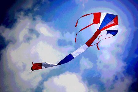 kite in the blue sky photo