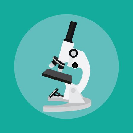 microscope isolated: microscope isolated tools chemistry technology science laboratory vector illustration