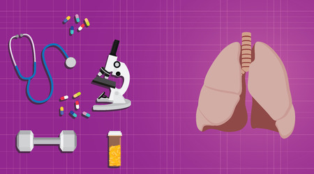 smoke stack: lungs healthy concept with medicine medical record science vector illustrat Illustration