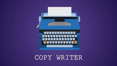 copywriter: copywriting copywriter illustration with type machine vector  illustration