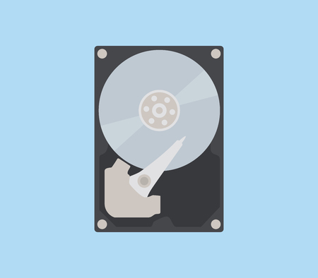 sata: hdd isolated object with flat style vector illustration