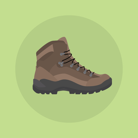 mountain shoes boot isolated icon style vector illustration