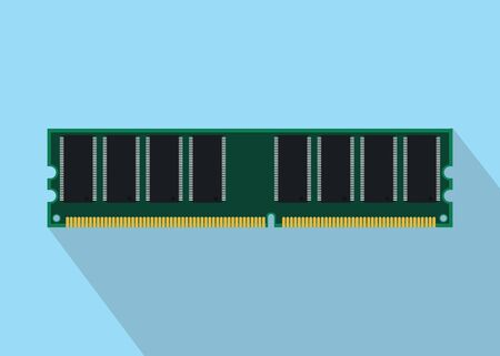 random access memory: ram random access memory isolated with flat style vector illustration Illustration