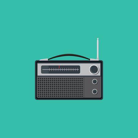 vieille radio vecteur unique isolé illustration graphique