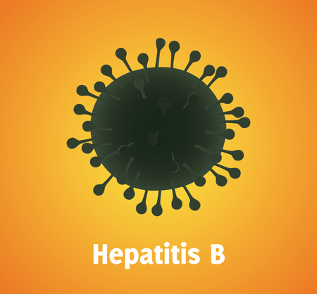 hepatitis b virus single isolated with text vector graphic illustration