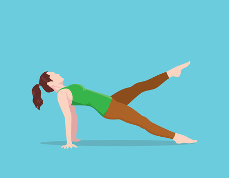 dwi: pilates bridges position name vector graphic illustration