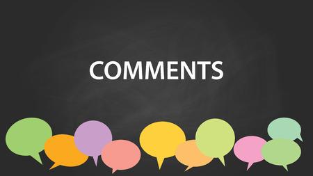 黒板効果ベクトル グラフィック イラストとカラフルな黒板コメント用吹き出しにコメント