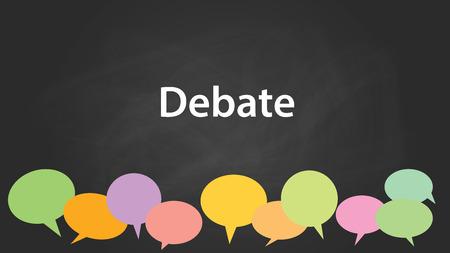 graphic illustration: debate vector graphic illustration Illustration
