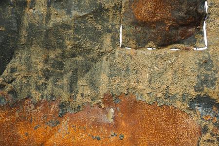 hydroxide: A rusty zinc board photo taken in Bogor Indonesia