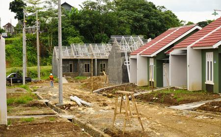 housing lot: intermediate real estate project photo taken in Bogor Indonesia java