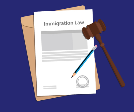 Legal concept of immigration law illustration