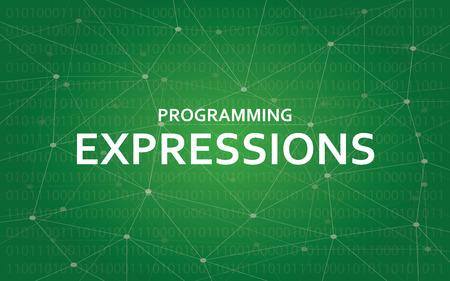 プログラミング式概念図白本文イラストを使用した緑のコンスタレーション マップの背景として
